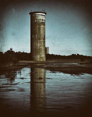 Photograph - Fct3 Fire Control Tower Reflections In Sepia by Bill Swartwout Fine Art Photography