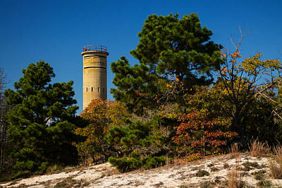Photograph - Fct8 Fire Control Tower 8 Autumn Sentry by Bill Swartwout