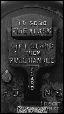 Art Print featuring the photograph Fdny - Alarm by James Aiken