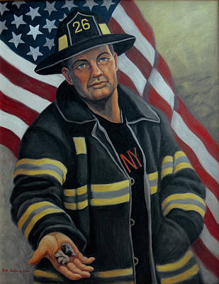 Painting - In Remembrance Of Sept. 11 by Ruth Soller