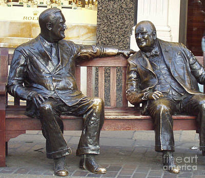 Photograph - Fdr And Churchill Having A Chat In London by John Telfer