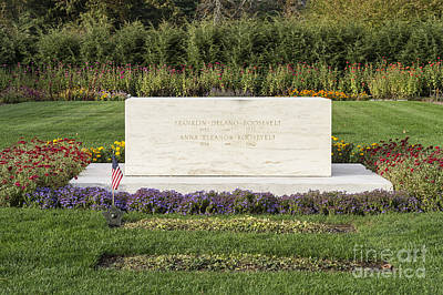 The New Deal Photograph - Fdr Burial Site by John Greim