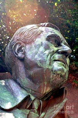 Franklin Photograph - Fdr Memorial by Mike Baltzgar