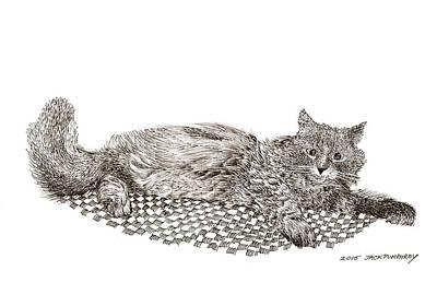 Drawing - Fi Fi  by Jack Pumphrey
