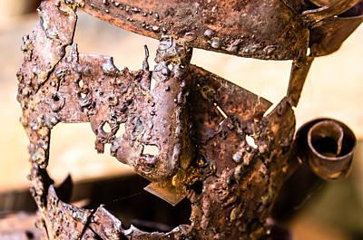 Bronze Mask Photograph - Fear Me by Sotiris Filippou