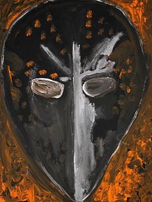 Philadelphia Flyers Painting - Fear The Goalie by Mark Stiles