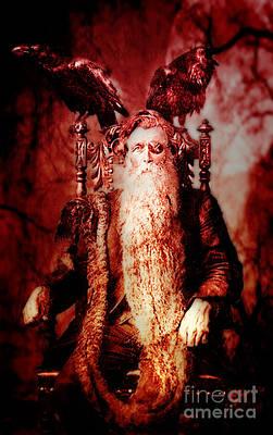 Creepy Digital Art - Fear The Wicked Beard by Greg Sharpe