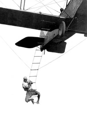 Stunt Flyer Photograph - Fearless Freddie Hollywood Stuntman by Science Source
