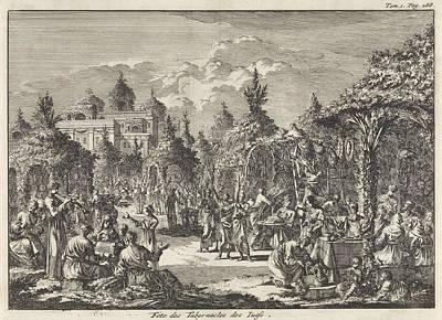 Feast Of Tabernacles, Jan Luyken, Pieter Mortier Art Print by Jan Luyken And Pieter Mortier
