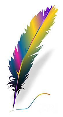 Digital Art - Feather 069-13 Marucii by Marek Lutek