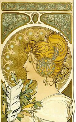 Feather 1899 Art Print