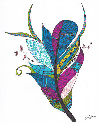 Drawing - Feather by Amanda Mitchell