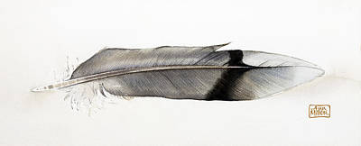 Ann Miller Wall Art - Painting - Feather by Ann Miller