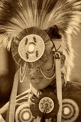 Silver Turquoise Photograph - Feather Dancer by Steven Bateson