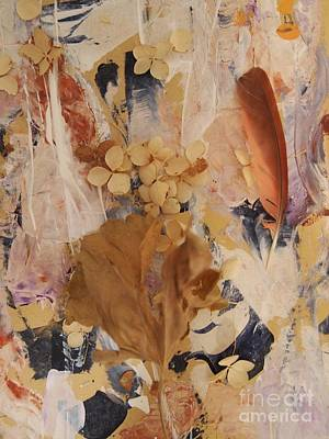 Dried Mixed Media - Feather Fantasy by Nancy Kane Chapman