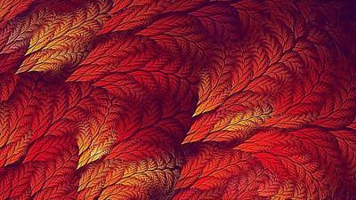 Digital Art - Feather Flame Screensaver by Doug Morgan