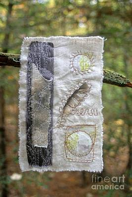 Tapestry - Textile - Feather In The Forest by Linda Marcille