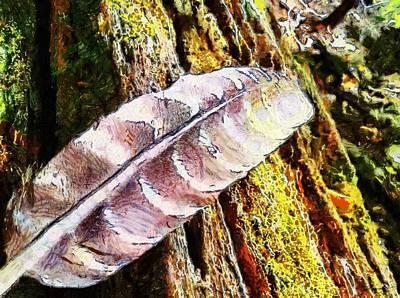 Digital Art - Feather Tree by Derek Gedney