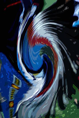 Art Print featuring the photograph Feather Whirl by Randy Pollard
