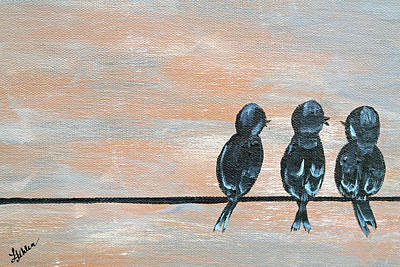 Consolation Painting - Feathered Friends by Linda Fehlen
