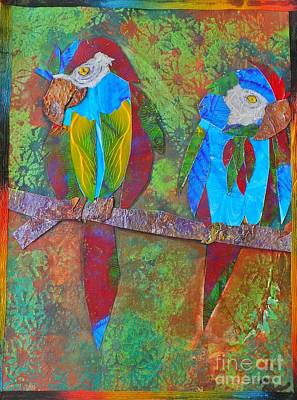 Digital Art - Feathered Friends by Maria Watt