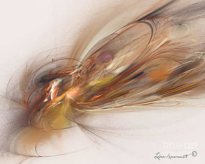 Digital Art - Featherlight by Leona Arsenault