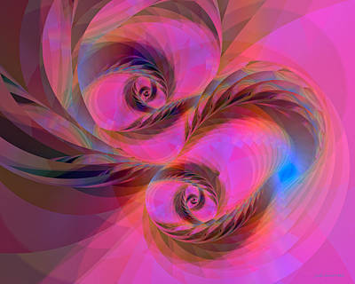 Digital Art - Feathers In The Wind by Judi Suni Hall