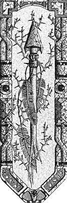 Pointillist Photograph - Feathers Thorns And Broken Arrow Bookmark No2 by Weston Westmoreland