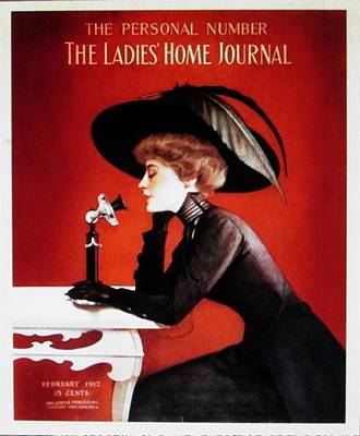 Photograph - February 1912 Cover Of The Ladie's Home Journal by Buzz Coe
