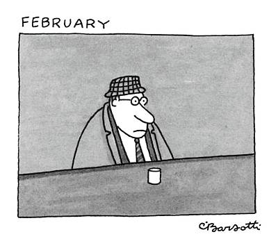February Art Print by Charles Barsotti