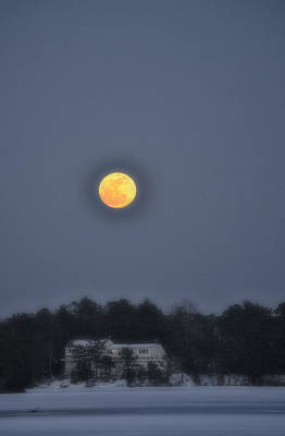 Photograph - February Full Moon by Beth Sawickie