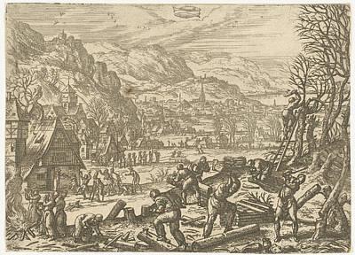 Variation Drawing - February, Pieter Van Der Borcht by Pieter Van Der Borcht (i)