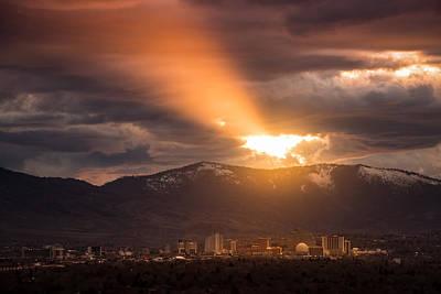 Reno Photograph - February Reno Sunset by Janis Knight