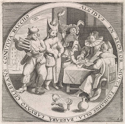 Mardi Gras Drawing - February Shrove Tuesday, Print Maker Anonymous by Anonymous And Crispijn Van De Passe I And Maerten De Vos