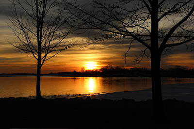 Popstar And Musician Paintings Royalty Free Images - Sunset on Buckeye Lake 4 Royalty-Free Image by Jeff Roney