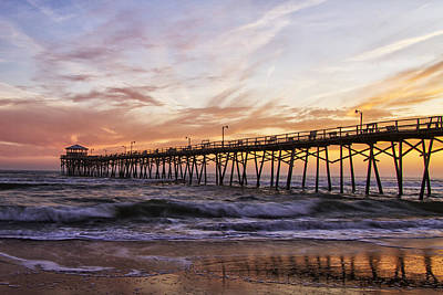 Photograph - Febuary Sunset On Atlantic Beach by Bob Decker