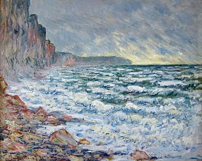 Fecamp Painting - Fecamp - By The Sea by Claude Monet