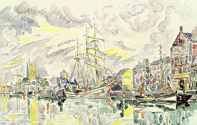 Impressionism Drawing - Fecamp by Paul Signac