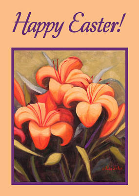 Painting - Fechin Lilies Card by Ruth Soller