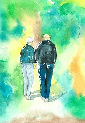 Painting - Fred And Judy Walking Away by Sharon Mick