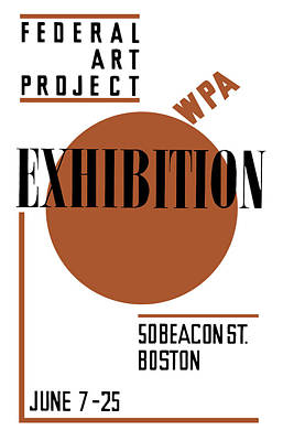 Works Progress Administration Mixed Media - Federal Art Project Wpa Exhibition  by War Is Hell Store