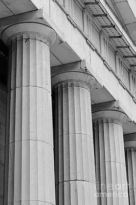 Federal Hall Columns Print by Jerry Fornarotto