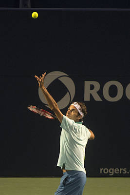 Roger Federer Photograph - Federer's Serve by Bill Cubitt