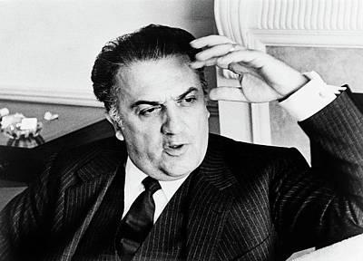 Fellini Photograph - Federico Fellini (1920-1993) by Granger