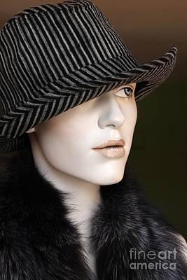 Fedora And Fur Art Print by Sophie Vigneault