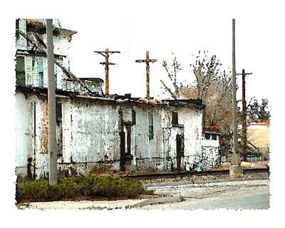 Feed Mill Digital Art - Feed And Grain by Brenda Leedy