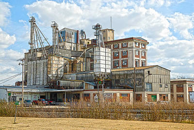 Photograph - Feed Mill Hdr by Charles Beeler