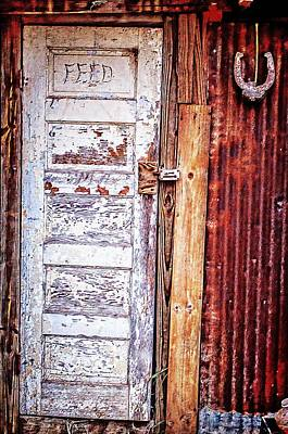 Photograph - Feed Room Door by Kelly Kitchens