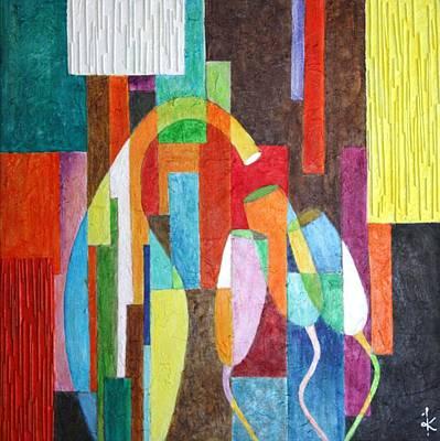 Champagne Painting - Feed The Flutes by Kiruba Sekaran