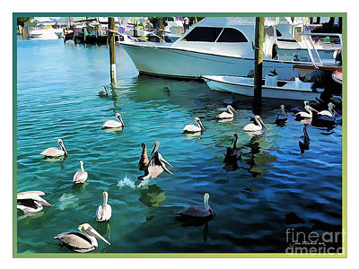 Photograph - Feed The Tarpon Time by Joan  Minchak